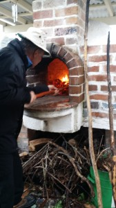 Delicious woodfired pizza for lunch
