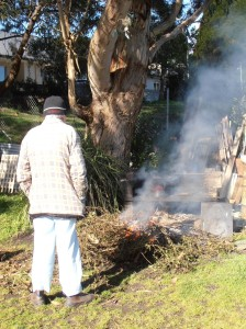 Arthur Tends the Fire, July 2012